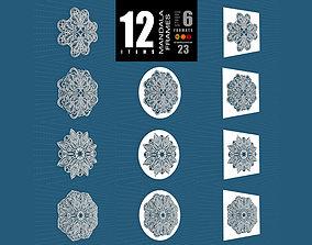 3D Mandala Frames Vol 23