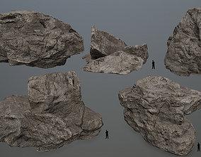 3D asset Rock Set 11