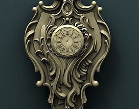 Wall clock 3d stl model for cnc bas
