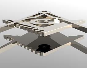 Masonic Grand Lodge Sign 3D model Masson compass