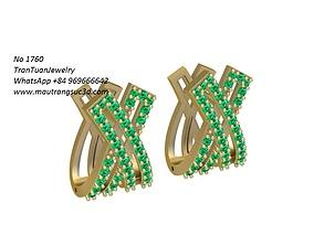3D print model 1760 Diamond Earrings