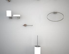 3D asset Gessi Ovale accessories set