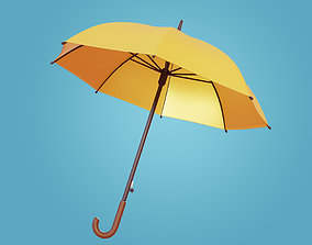 Yellow Umbrella 3D asset