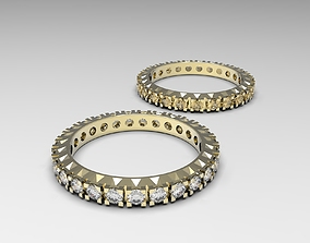 3D print model Elegant eternity ring with small diamonds