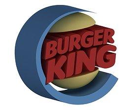 3D model Burger King Logo burgerking
