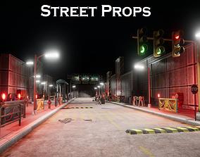 Street Props props 3D asset VR / AR ready