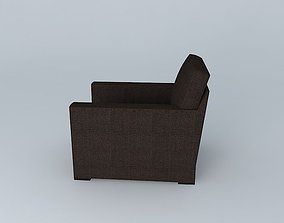 3D model Large Lounge Chair
