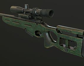 3D asset SV 98 sniper rifle