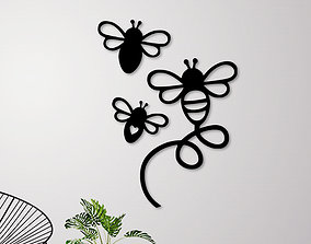 3D printable model Flying Bees Wall Decoration decor