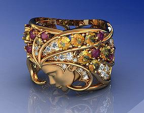 Magerit Atlantis Sirena Ring 3D printable model