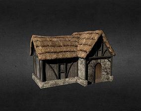 fighter-propeller-plane 3D asset realtime Medieval house