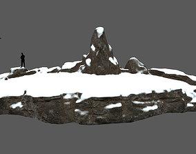 snow terrain 3D model realtime