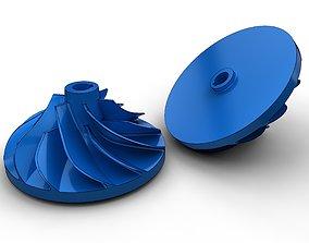 3D printable model Turbo impeller