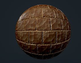 painted 3D Stylized Brick Wall Seamless PBR Texture