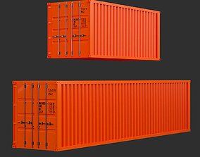 3D asset Shipping Container 20ft - 40ft