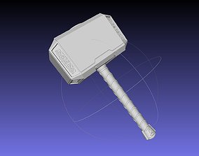 Thor Mjolnir Hammer Basic Printable Assembly