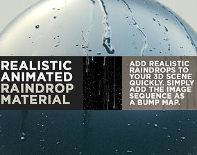 Realistic Animated Raindrop Material 3D model
