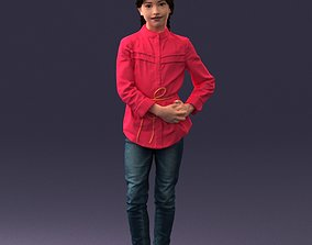 The girl in the red jacket 0258 3D Print Ready