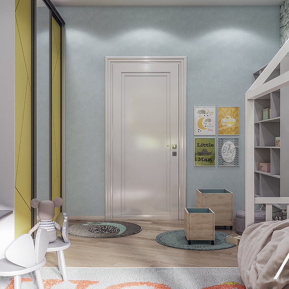 Beautiful kids room with toys by 3DAG