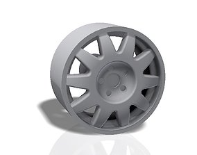 3D printable model 10 spokes rim - llanta