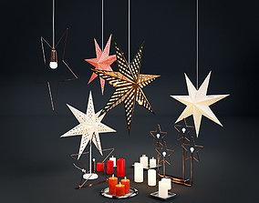Christmas decorations IKEA set - with stars and 3D model 1