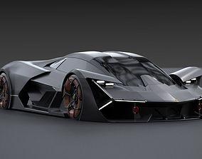 Lamborghini Terzo Millennio 3D animated