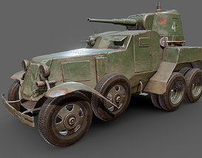BA-10 armored car 3D asset