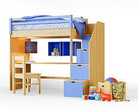 Childrens Bunk Bed 3D asset