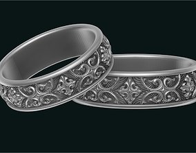 ornaments 3D print model Gothico wedding rings
