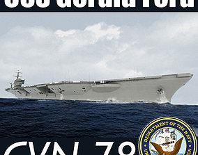 US Navy CVN-78 USS Gerald F Aircraft Carrier 3D