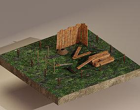 Building Foundation 3D asset