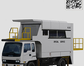 Isuzu catering lift 3D model rigged