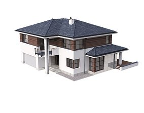 3D model Villa 02 House Cottage