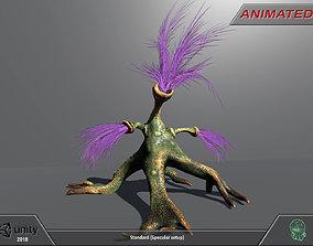 Alien flora 01 3D asset animated