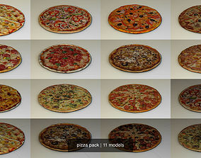 delivery pizza pack 3D