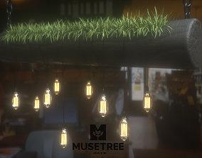 lamp 3D Light Hanging Wood
