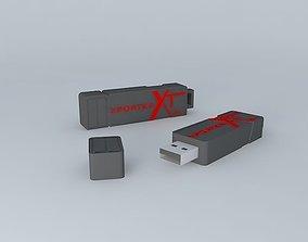 Patriot 32GB USB Drive 3D