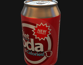 Diet soda can 3D model