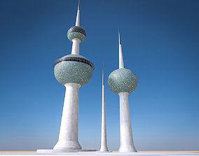 3D model Kuwait Towers