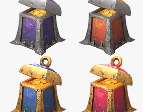 3D asset realtime Stylized Chest