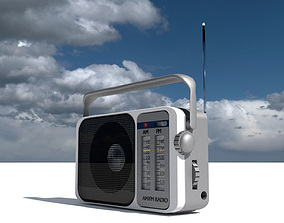 3D model antenna RADIO