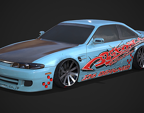 3D asset Nissan Silvia S14 326 Power DLux bodykit