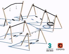 3D modern swing set 02