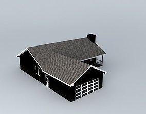 3D model Ranch House los
