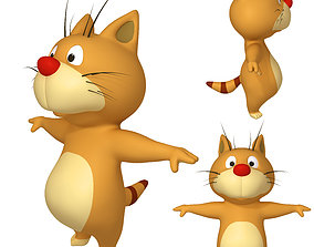 animals Cat Cartoon 02 3D model
