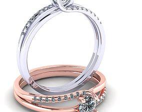 3D printable model Beautiful female ring brilliant
