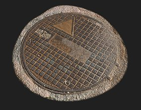 Man Hole Cover 02 3D