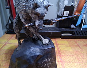 3D print model Dark Souls Great Grey Wolf