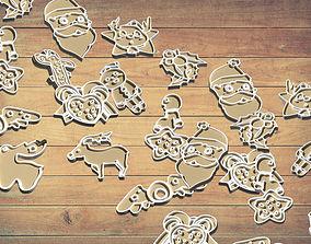 3D print model Christmas decorations SET funny