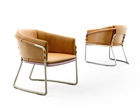Bassam Fellows CB-454 Geometric Lounge Chair 3D